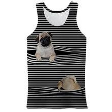 Men's Summer Animal Pattern Veat Fashion Cute New Male Vest 3D Printing Short Sleeve Hip Hop Cool Un