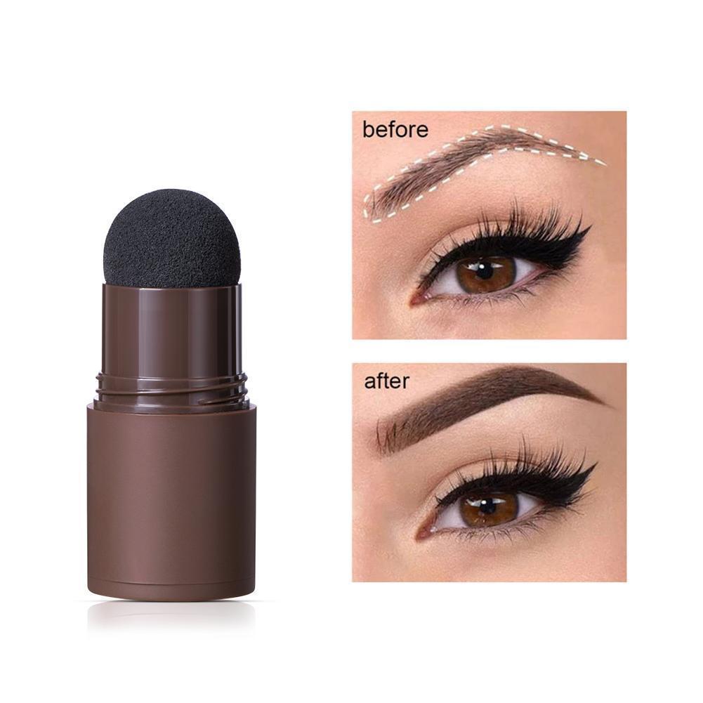 One Step Eyebrow Stamp Shaping Kit Professional Eye Brow Gel Stamp Makeup Kit With Reusable Eyebrow