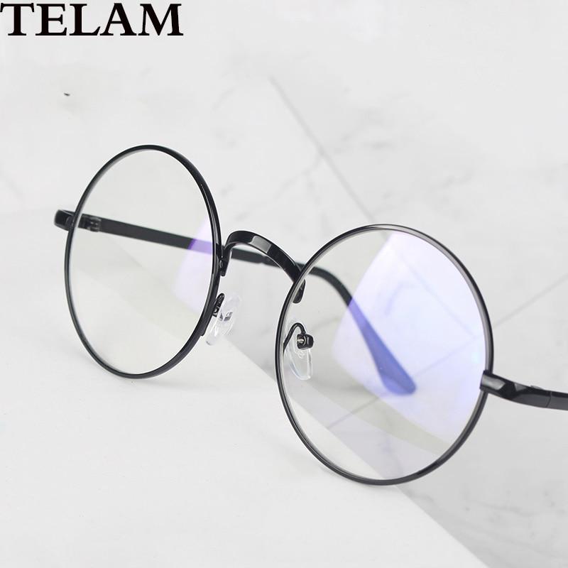 Металлические круглые очки анти-синий светильник Ретро Колледж Женские очки компьютерные очки игровые мужские очки прозрачные линзы