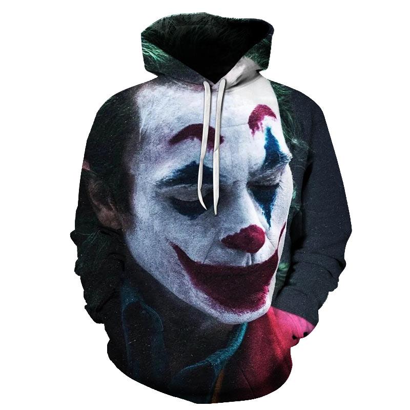 Joker disfraz 2019 sudaderas de marca para hombre sudaderas con capucha con estampado 3D para hombre chándales casuales para hombre talla S-6XL al por mayor y al por menor