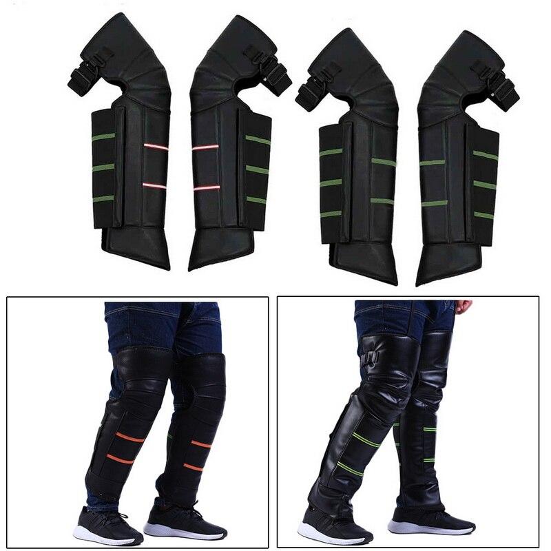 1 par de rodilleras de motocicleta impermeables de PU Protector de rodilla de Motocross Protector de rodilla de Moto