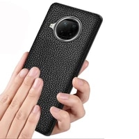 brand phone case for xiaomi mi 10t lite genuine leather shockproof back cover