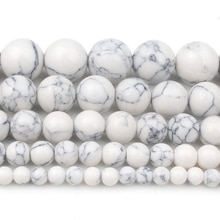 4/6/8/10/12mm Natural White Howlite Turquoises Stone Beads Round Loose Beads For Bracelet Jewellery
