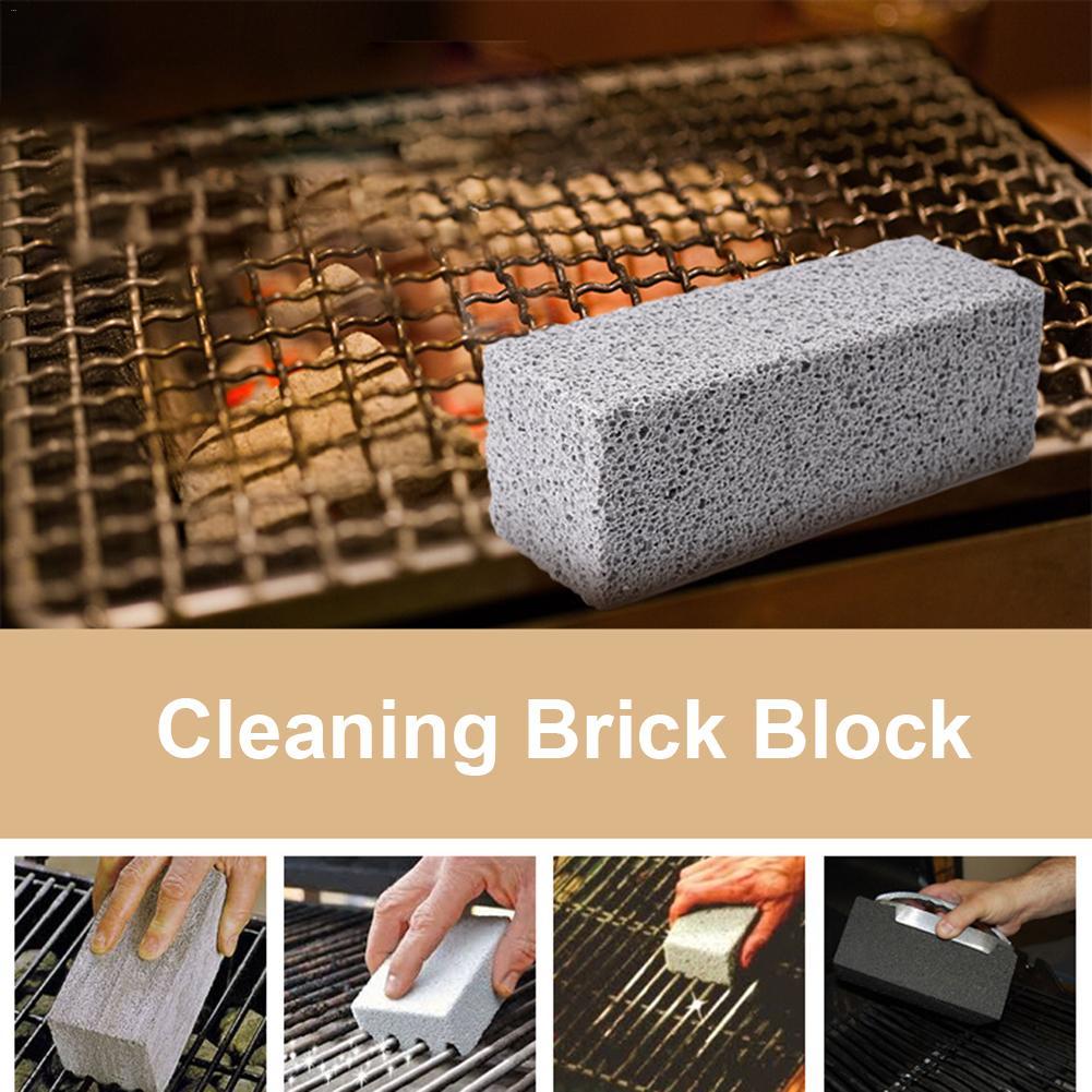 2 piezas De bloques De limpieza De parrilla reutilizables De limpieza De piedra pómez para eliminar manchas De limpieza ecológica De parrilla De barbacoa 4