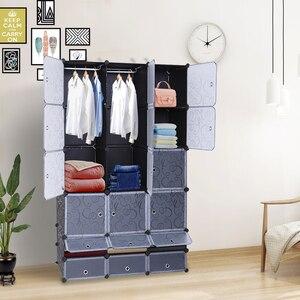 【US Warehouse】18-Cube DIY Modular Cubby Shelving Storage Organizer Extra Large Wardrobes