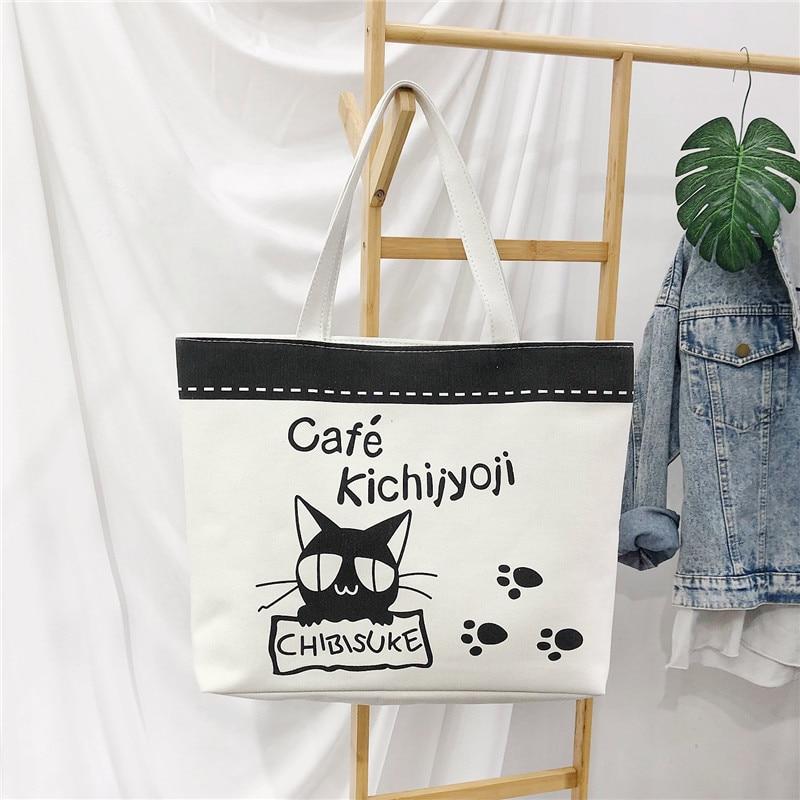 Bolso de lujo para mujer 2019, bolso de diseñador, femenino, bolso de lona portátil, bolso de viaje de gato de música bandolera bp470