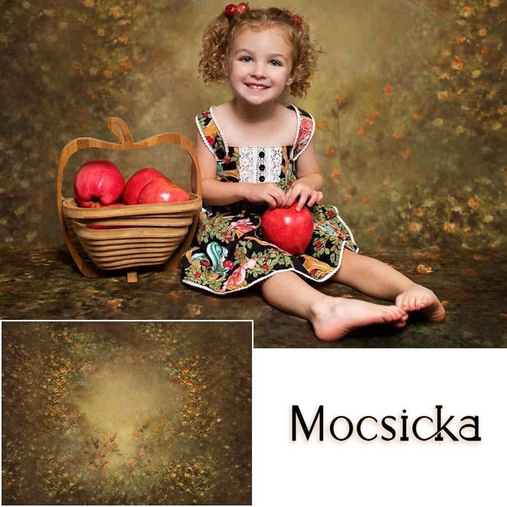 Mocsicka Retro Floral Newborn Baby Portrait Photography Backdrops Spring Flower Children Birthday Backgrounds for Photo Studio