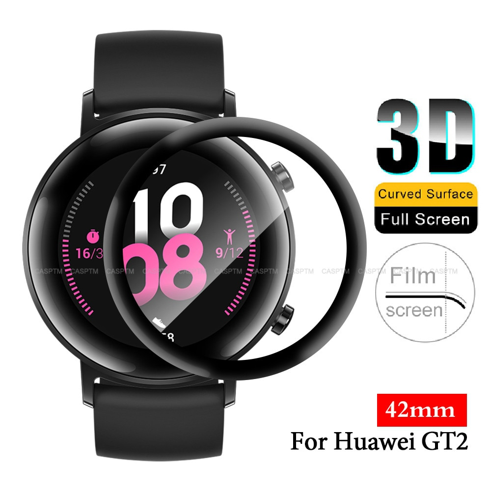 watch protective film for huawei watch gt 2 screen protector 42mm 3d soft full coverage not glass smart wearable accessories