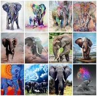 diamond painting elephant picture rhinestones square dimond embroidery animals cross stitch diamond art handmade home decor
