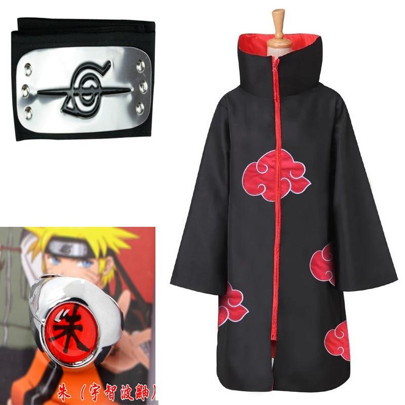 Naruto Costume Akatsuki Cloak Cosplay Sasuke Uchiha Cape Cosplay Itachi Clothing Cosplay Costume Dem