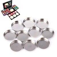10pcs diy round eyeshadow lipstick cosmetic empty powder makeup box packing case dia 20mm aluminum dish