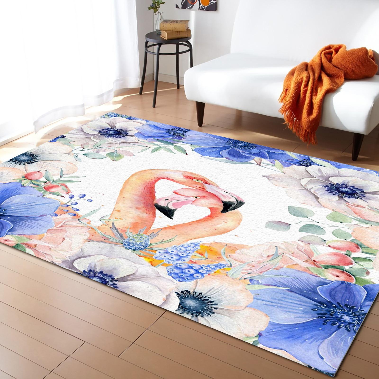فلامنغو الأرجواني الزهور يترك السجاد لغرفة النوم ديكور المنزل السجاد Kawaii سجاد و السجاد للمنزل غرفة المعيشة في الهواء الطلق البساط