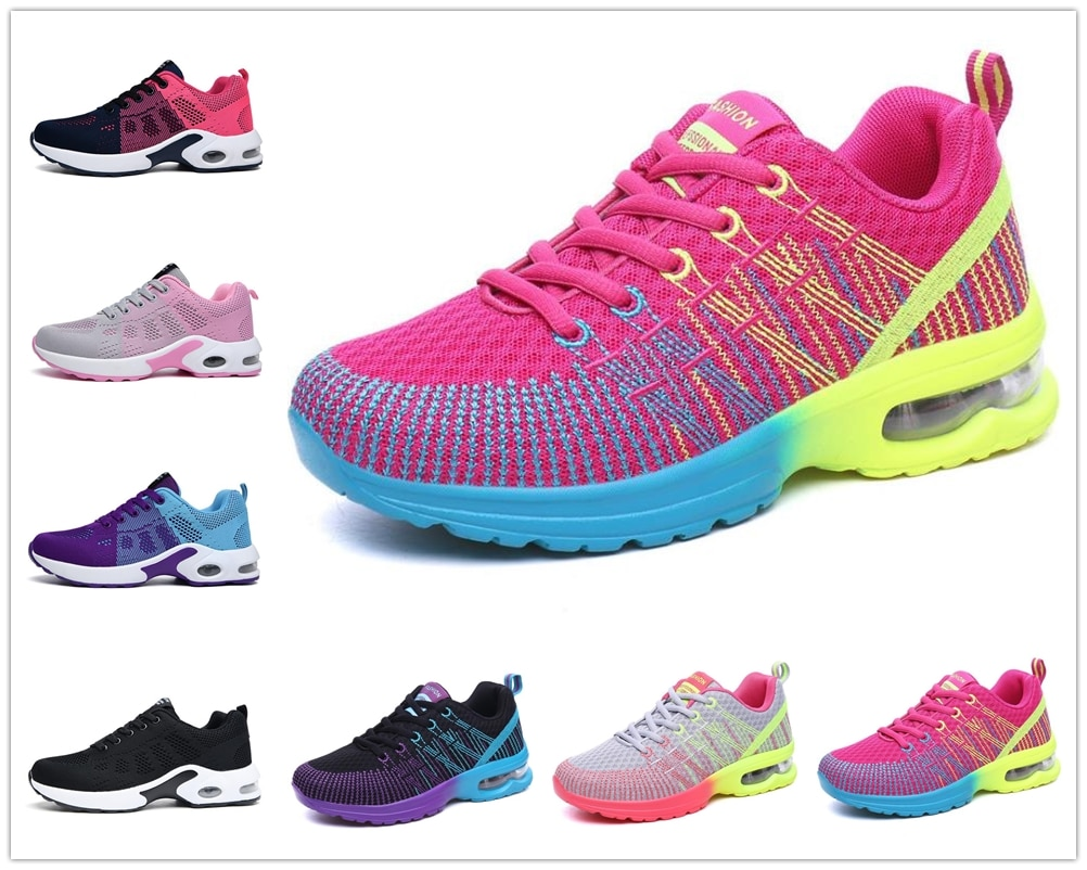 New Running Shoes Women Breathable Casual Shoes Outdoor Light Weight Sports Shoes Walking Platform L