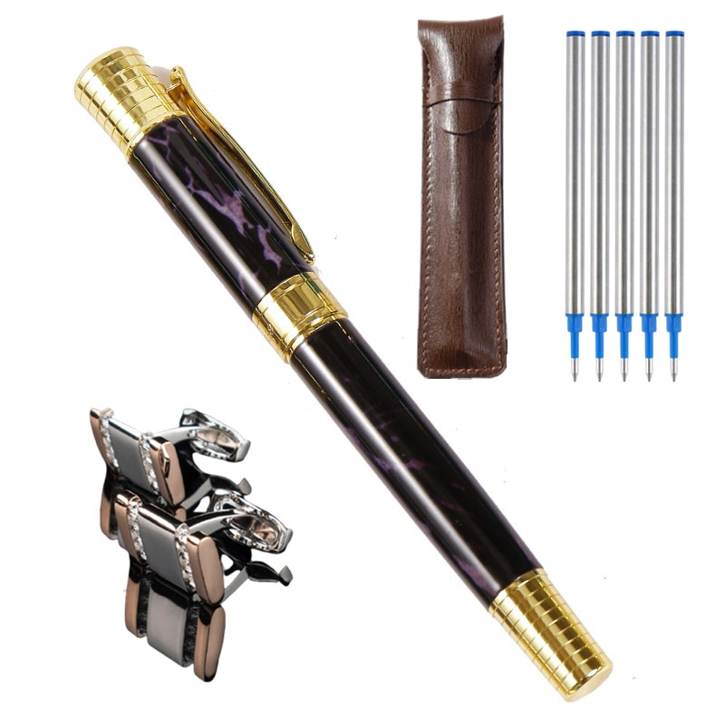 Metal ballpoint pen black signature pen men's business writing pen office school stationery недорого
