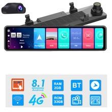 12 pouces voiture DVR rétroviseur 4G Android 8.1 Dash Cam GPS Navigation ADAS Full HD 1080P voiture vidéo caméra enregistreur DVR