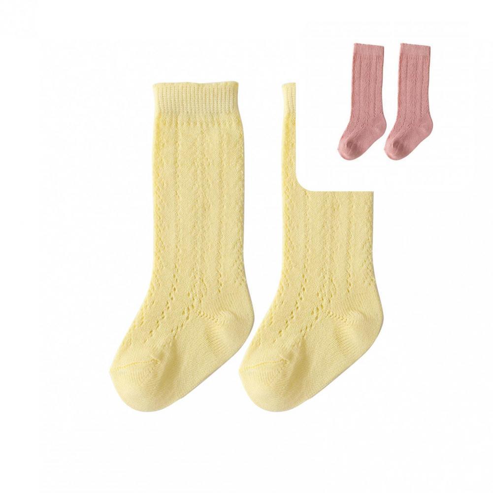 Стильные Детские носки, носки средней длины на ощупь, однотонные детские носки, тонкие носки, короткие носки, 1 пара