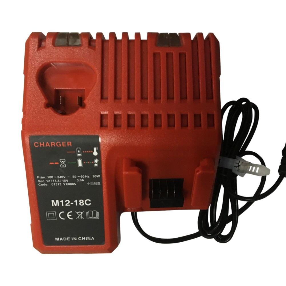110-240V بطارية ليثيوم أيون شاحن ل ميلووكي M12 M18 48-11-1815 48-11-1828 48-11-2401 48-11-2402 HJ55
