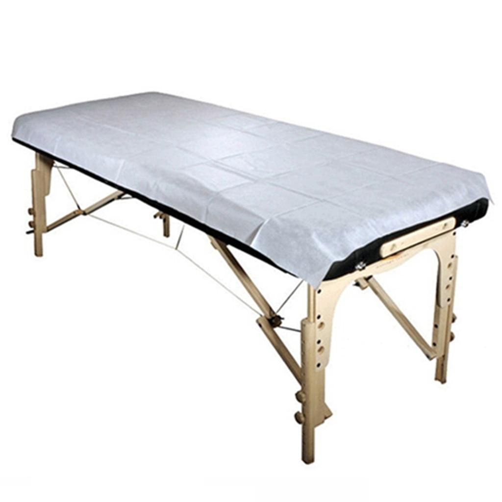 100 pçs descartável folha de cama massagem mattres viagem cama folha cabida massagem cobertura de mesa salão spa à prova d80água 80x180cm