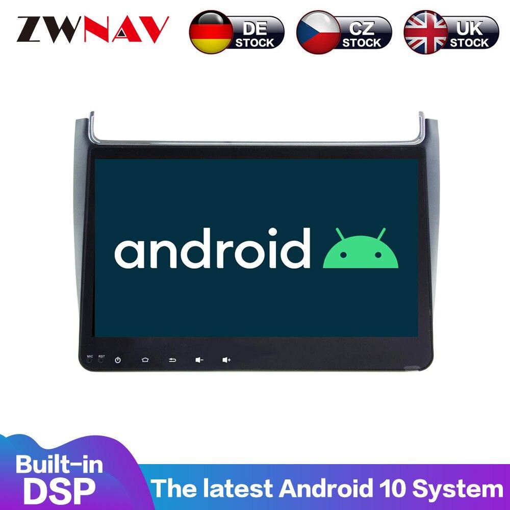 Android 10 4 + 64G DSP Carplay IPS pantalla para VW Polo Sedan 2008 - 2015 pantalla grande AC automático Radio Estéreo GPS multimedia navegación