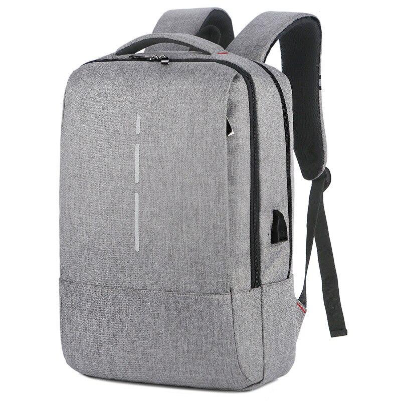 مقاوم للماء أكسفورد الرجال على ظهره Laptop15.6 بوصة سعة كبيرة موضة USB شحن الذكور حقيبة ظهر مدرسية للأولاد في سن المراهقة