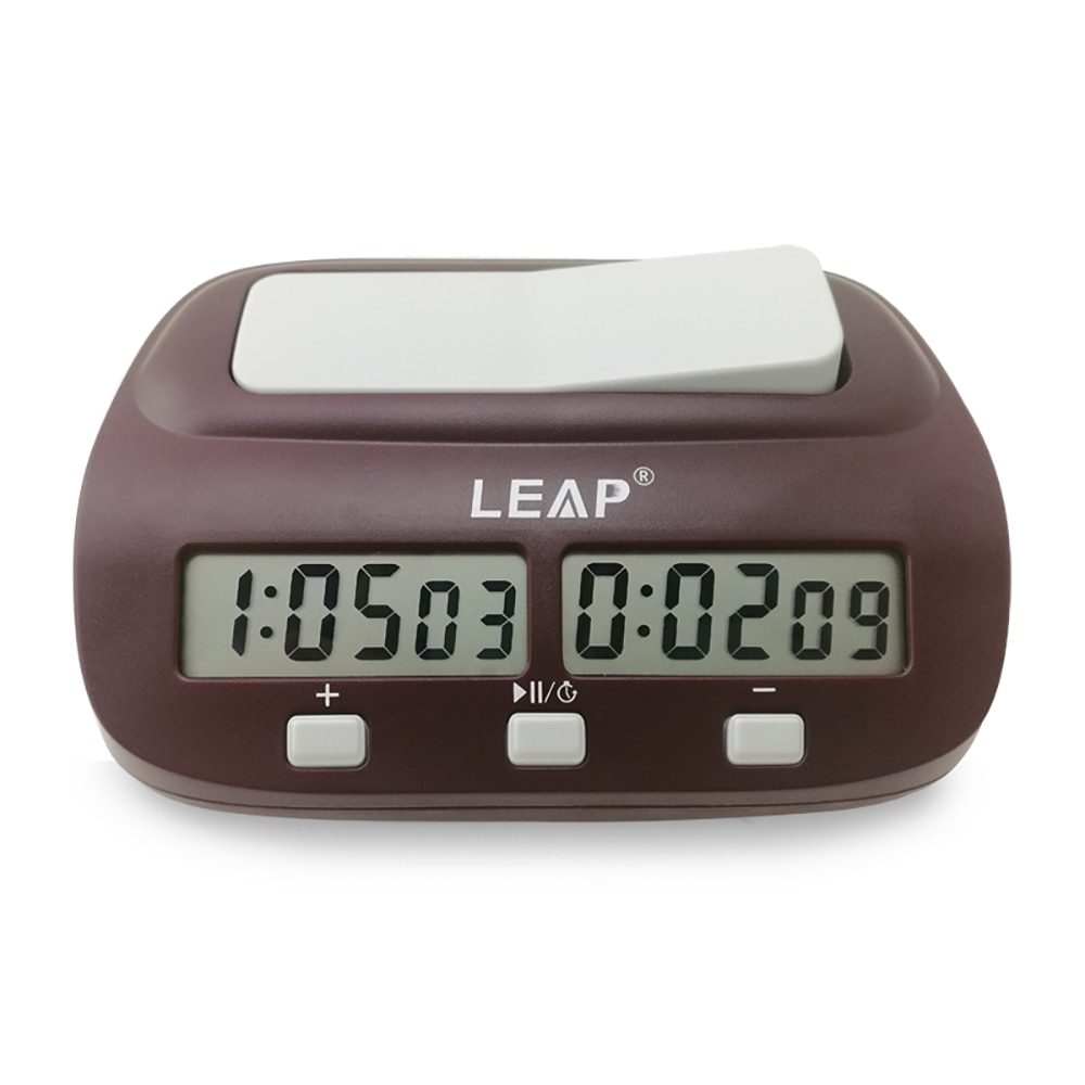 LEAP Chess Clocks Professional Digital Count Timer Sports Electronic Checkers Clock Chinese Backgammon Board Game Set