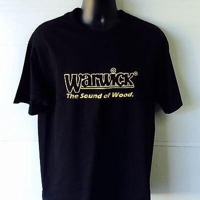 Camiseta de manga corta negra con Logo de guitarra Warwick Bass, camiseta de verano para hombre, camisetas de marca para hombre, camiseta para hombre, talla Europea 4XL 5XL