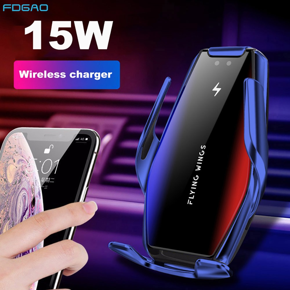Automatic Clamping 15W Fast Car Wireless Charger for Samsung S20 S10 iPhone 12 11 Pro XS XR 8 Infrar