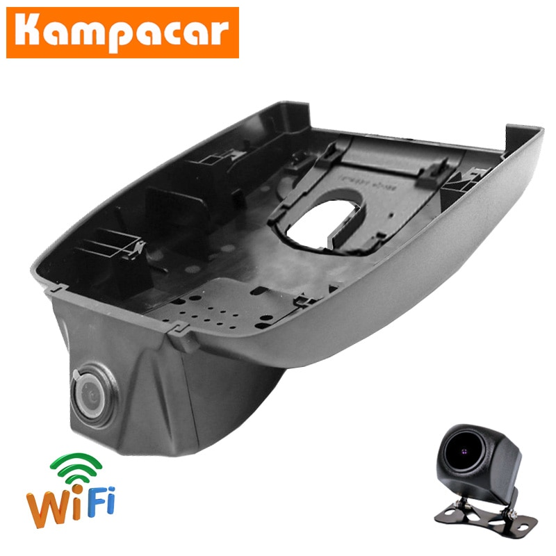 Kampacar dashcam TYT07-D para toyota rav4 alta edição trd híbrido prime 2019 a 2020 y fhd duas lente wifi carro dvr câmera traço automático