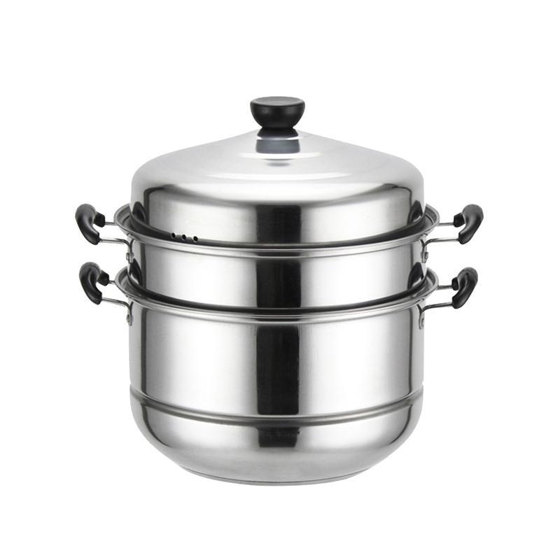 1 قطعة باخرة متعددة الوظائف سميكة المطبخ الفولاذ المقاوم للصدأ ثلاث طبقات الحساء البخار وعاء الطبخ الأواني ل موقد غاز طباخ التعريفي