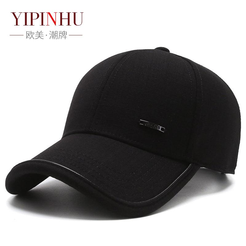 Мужские хлопковые бейсболки YIPINHU, уличные бейсболки с защитой от падения, головные уборы для мужчин, высококачественные бейсболки, кепки-тр...