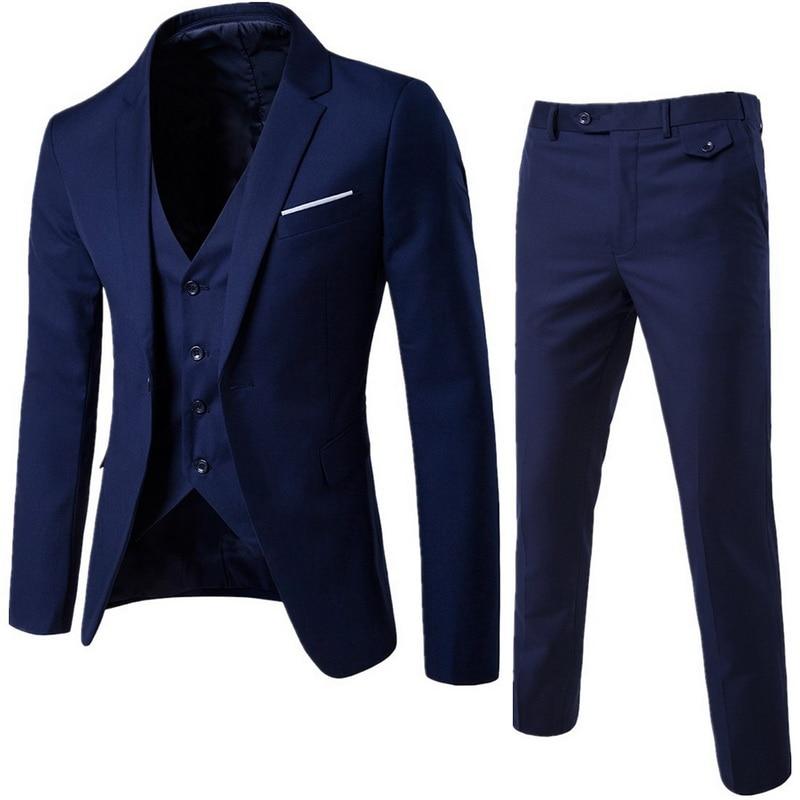 2020 men's fashion Slim suits men's business casual clothing groomsman three-piece suit Blazers jack