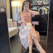 Women's Dress Summer Lightly Mature Long  Maxi Boho Dresses Korean Style Holiday Travel Young Fashio