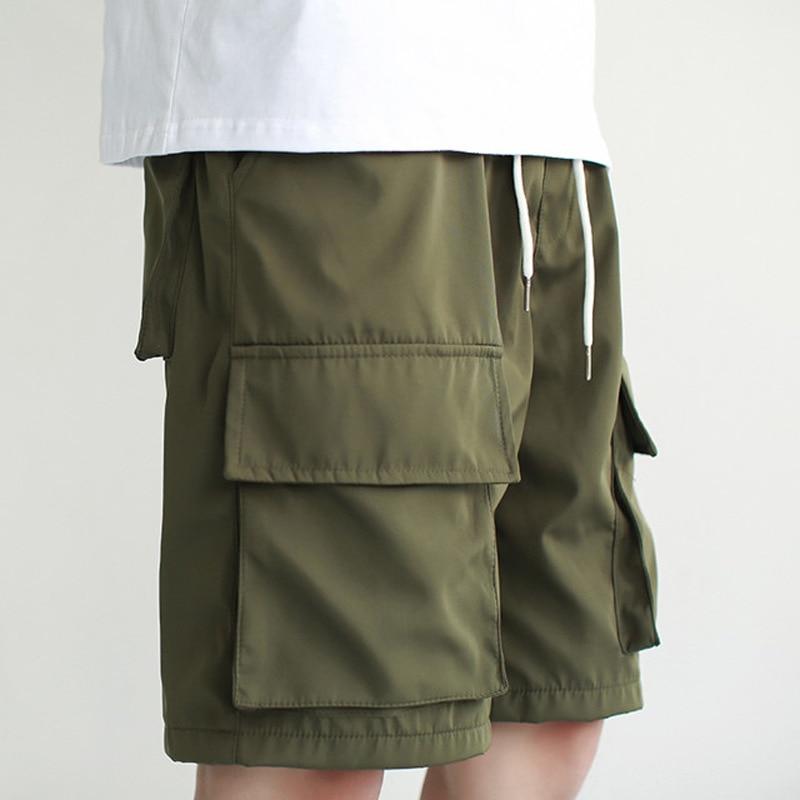 Ewq/roupa masculina e feminina 2020 novo verão outono preto rua alta solta 3xl shorts coreano moda carga shorts maré fq552