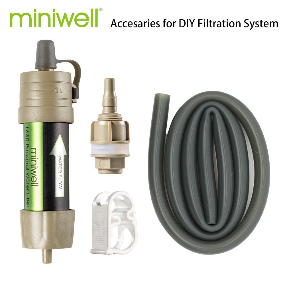 Miniwell-قش مرشح مياه للتخييم الشخصي ، L630 ، قش البقاء على قيد الحياة أو لوازم الطوارئ