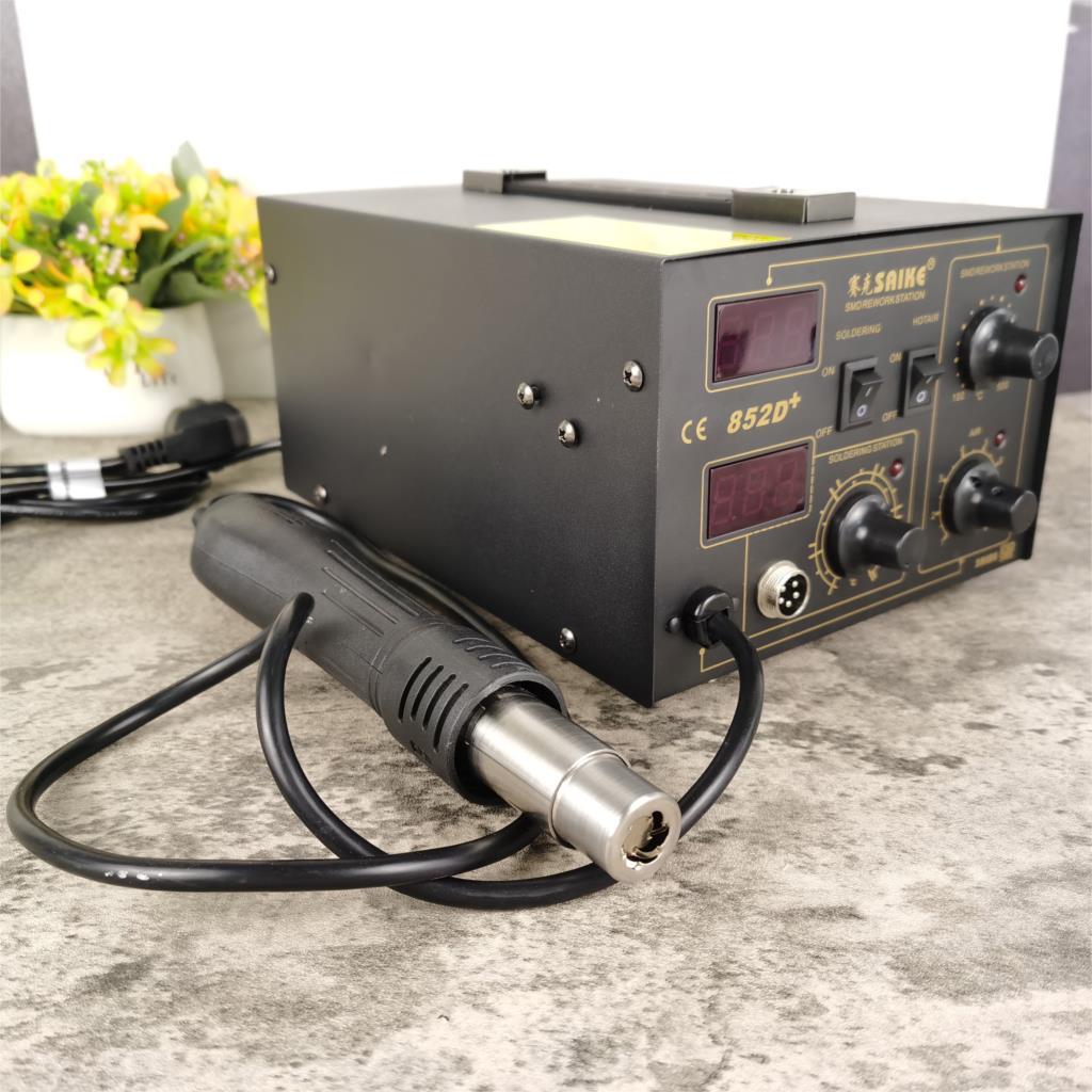 YIHUA 852D + 0 فولت 700 واط نوع المضخة Yihua 852D + مسدس هواء ساخن سبيكة لحام الرقمية محطة إعادة العمل مصلحة الارصاد الجوية أفضل من سايك