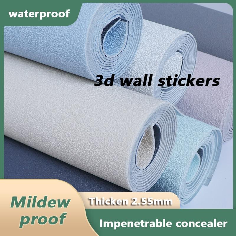 New Design 3D Vinyl Self-Adhesive Wallpaper Bedroom Living Room Decoration Wall Stickers Kitchen