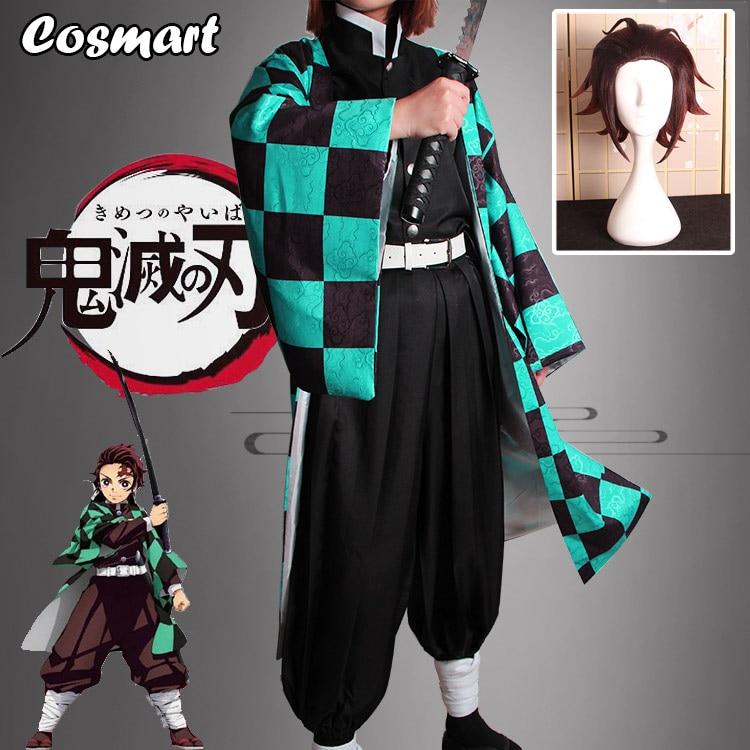 Anime! demonio asesino Kimetsu no Yaiba Kamado Tanjirou de combate cosplay de kimono cualquier tamaño uniforme de C