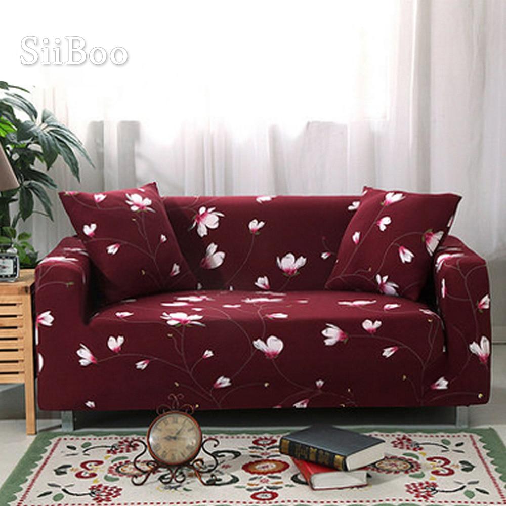 1 asiento 2 asientos 3 asientos 4 asientos planta floral elástico cubiertas de asiento funda Universal fuerza elástica sofá cubre SP3964 envío gratis