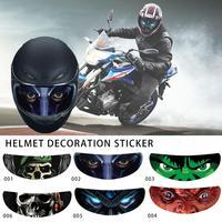 Декоративная наклейка на шлем, съемная наклейка на козырёк для мотоциклетного шлема