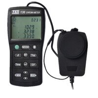 TES-136 Color Temperature Illuminometer Colorimeter LCD Display Environmental Test Light 0.1 to 99990