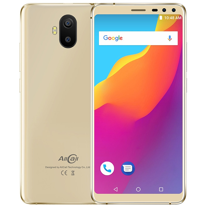 "Allcall s1 3g smartphone 5.5 ""android 8.1 mt6580 quad core 2 gb + 16 gb 13mp + 2mp câmera traseira dupla 5000 mah anti queda telefone móvel"