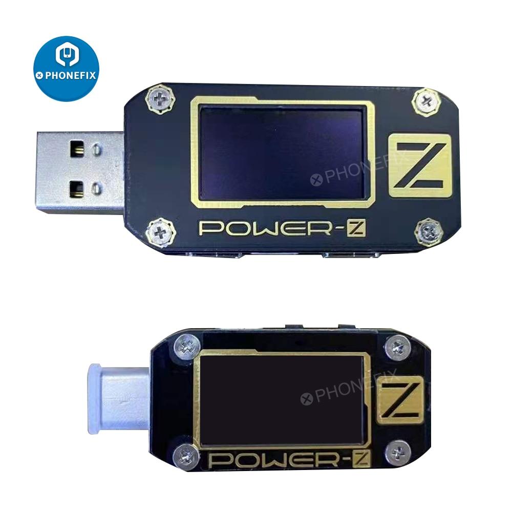 POWER-Z USB PD اختبار الجهد والتيار تموج مزدوجة نوع-C أداة KM001 USB الرقمية الفولتميتر اختبار