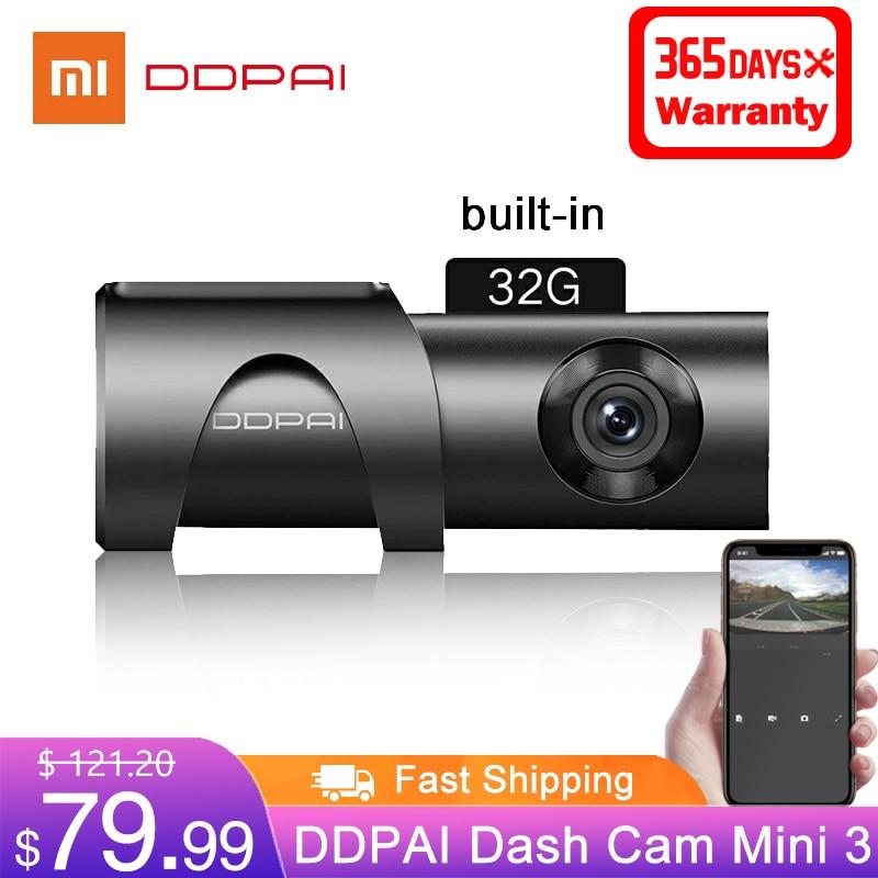 DDPAI видеорегистратор Mini 3 1600P HD Автомобильная камера 32 ГБ 2K Android скрытый 24H монитор парковки Автомобильный привод видео регистратор