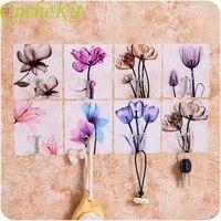 Crochet de rangement mural pour fleurs  4 pieces  sans trace  fort et collant  pour cuisine  salles de bains