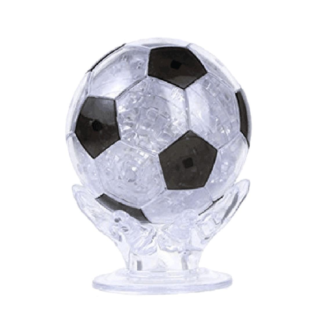 77 шт 3D пазл футбольный Пазл Сделай Сам сборка Футбол Кристалл Модель игрушка Кристалл Головоломка украшение обучающая игрушка-черный синий