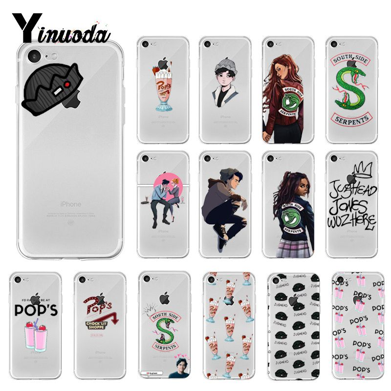 Yinuoda Hot TV Riverdale suave de TPU de la caja del teléfono de silicona para iPhone 8 7 6 6S Plus X XS X MAX 5 5S SE XR 10 cubierta Capa