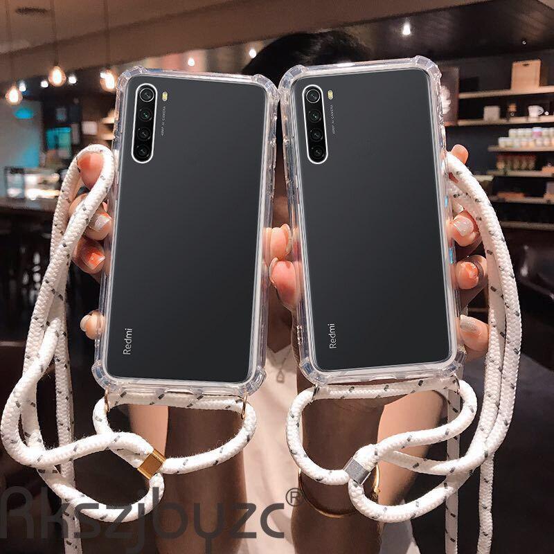 Correa cruzada, funda de teléfono anticaída para Huawei Honor 8C 8X 9 9X 10 20 Lite Honor 10i 20i 20 Lite con cordón, collar y hombro