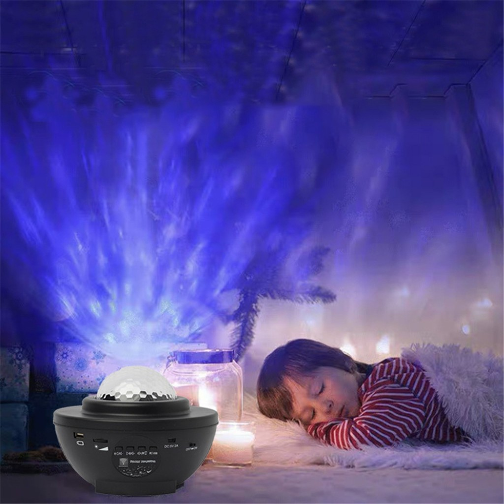 LED Colorful Projector Blueteeth USB Voice Control Music Player Projection Lamp Music Player Projection Lamp