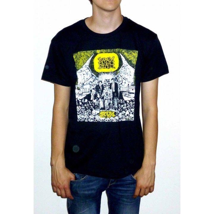 Camiseta Napalm Death Scum Classic, nueva armonía, corrupción, utopía utilitaria