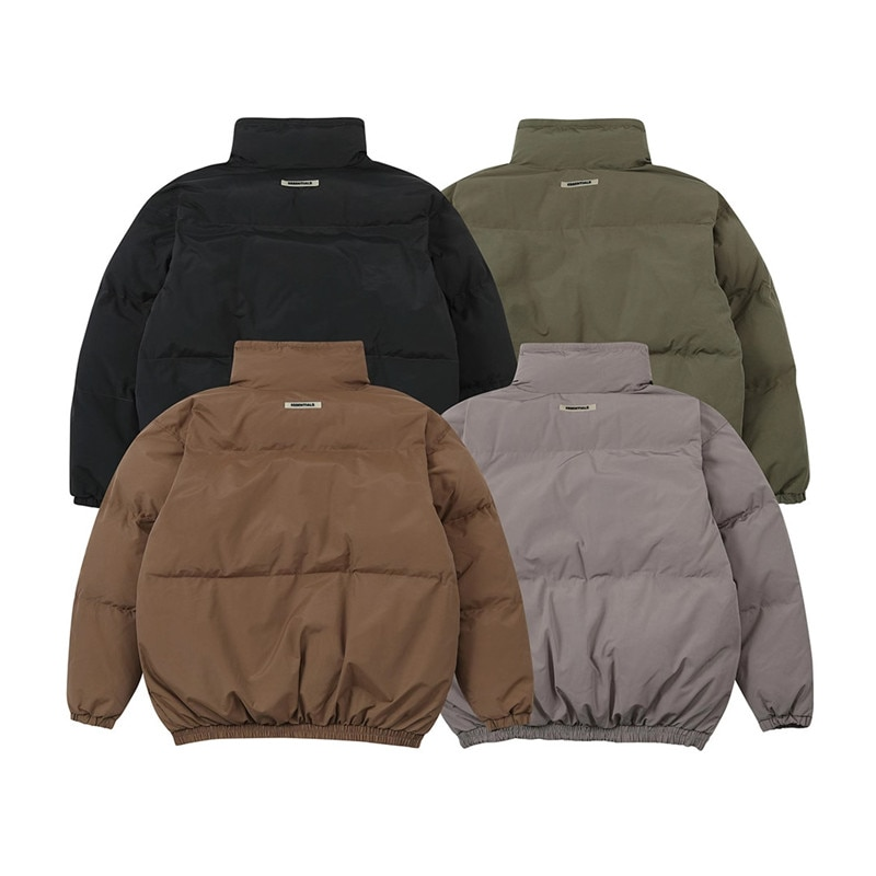 2020fw Winter FOG Essentials Down Jacket Men Women Stand Collar Bread Coats Outerwear Male Clothes